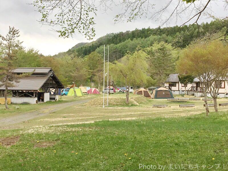 土呂部キャンプ場のサイト