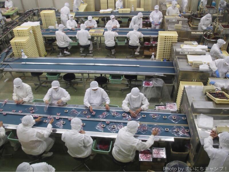 信玄餅の工場見学