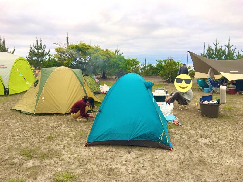 旅キャンプスタイルなのでコンパクト