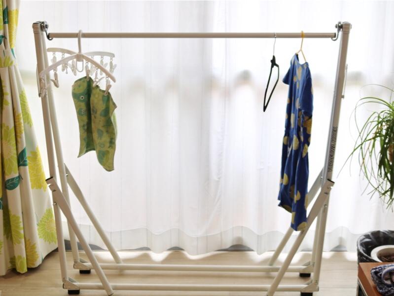 普段は洗濯干しとして利用