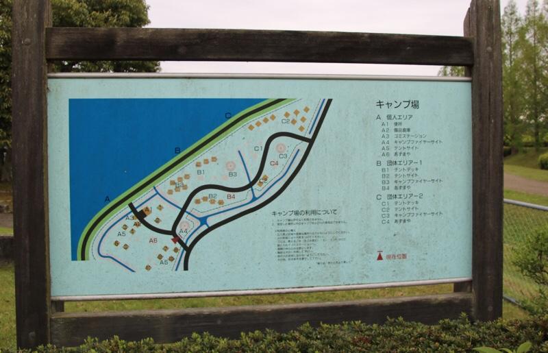 矢橋帰帆島公園キャンプ場のMAP