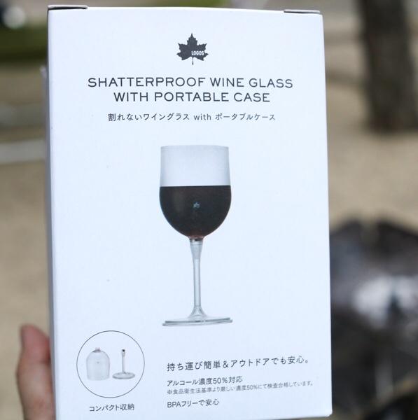 LOGOS割れないワイングラスの外箱