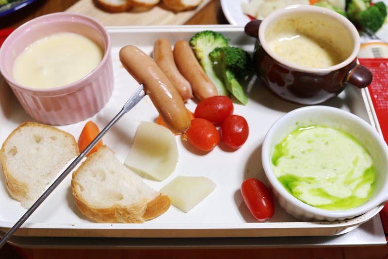 3色チーズフォンデュ