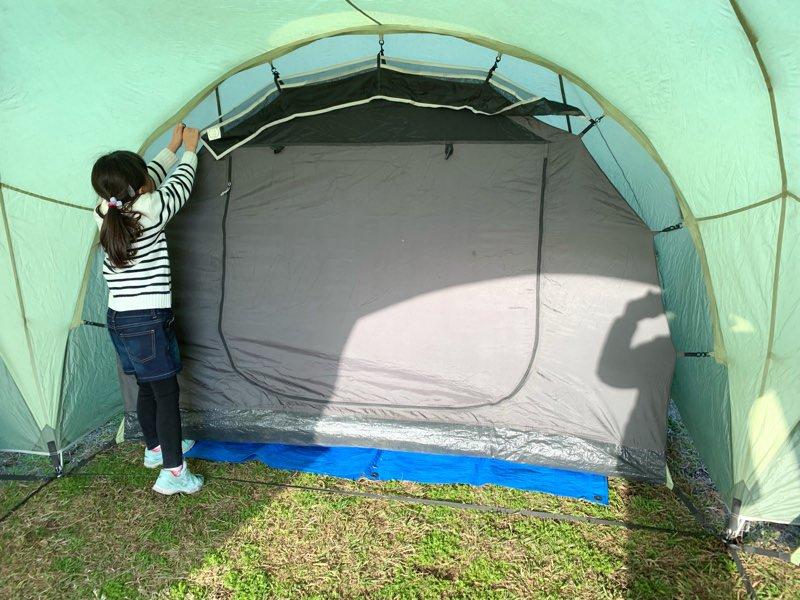 テント設営も早い!