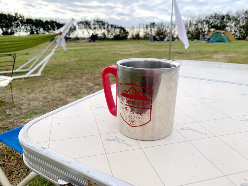 キャンプの朝のコーヒーが美味しい!