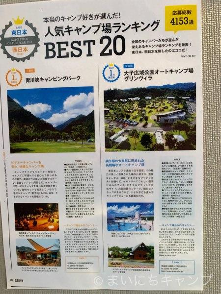 人気キャンプ場ランキング東日本1位!